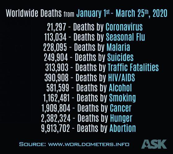 virus deaths